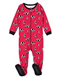 Leveret Kids Pajamas Baby Boys Girls Footed Pajamas Sleeper 100% Cotton (Cow, Size 2 Toddler)