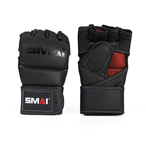 SMAI Elite85 Leather MMA Sparring Gloves - Competition Punching Mitts and MMA Gear for Men, Women and Youth - Made for Martial Arts Grappling, Punch Training and Bag Work.