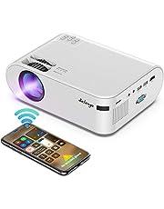 Mini Proyector Portatil para Celular - Salange Led hd Proyectors Wifi con 6500 Lux, 720P nativo, Soporte Zoom X-Y y Dolby Sound , Compatible con iPhone y Teléfono Android,TV Stick,PS4,HDMI para Exterior y Hogar