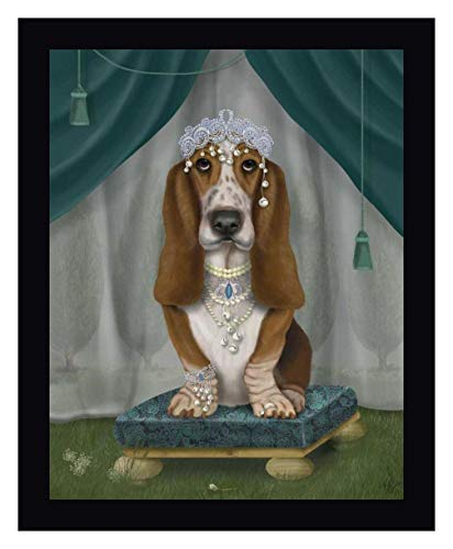 Basset Hound and Tiara by Fab Funky - 13