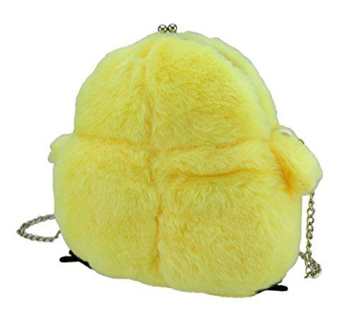Zeckos - Bolso cruzados de poliéster para mujer amarillo amarillo