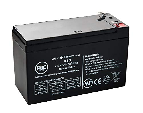 APC Back-UPS ES 550 8 Outlet 550VA, BE550R 12V 8Ah UPS Battery - This is an AJC Brand Replacement