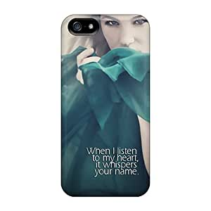 High-end Case Cover Protector For Iphone 5/5s(listen To My Heart)