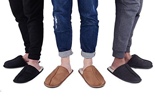 KushyShoo Men's Slip-On Indoor Outdoor Scuff Fluff Slippers by KushyShoo (Image #6)