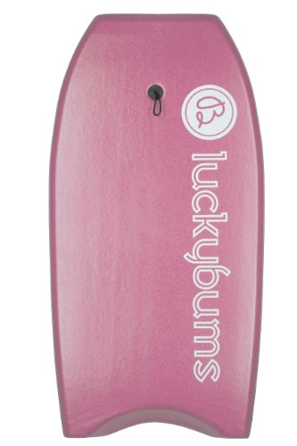 lucky-bums-body-board-with-eps-core-slick-bottom-and-leash-41-inches-pink