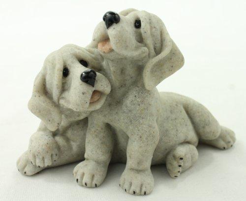 Quarry Critters Pebbles & Patch Dog Figurine ()