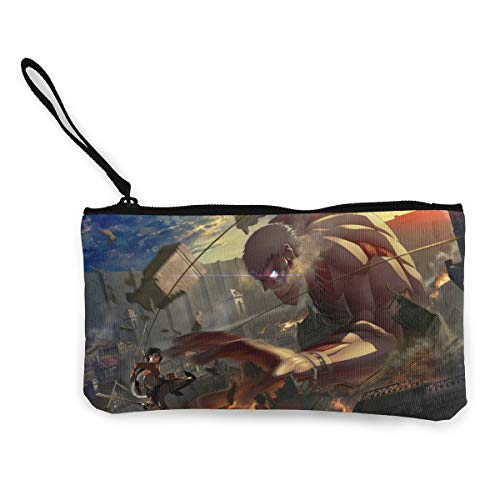Price comparison product image Att-ack On Titan Canvas Cash Coin Purse Zipper Pouch Phone Pouch And Woman Make Up Bag