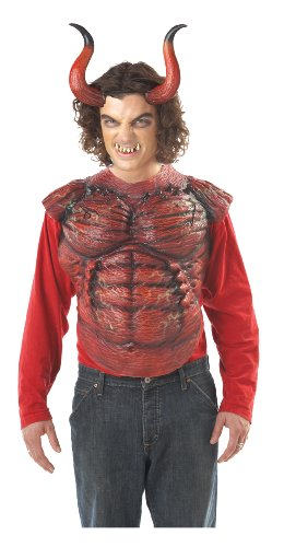 California Costumes Men's Hellion Horns W/Teeth,Red,One Size Costume Accessory]()