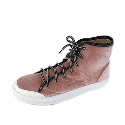 TONGPU Womens Fashion Sneakers Lace Up Student Shoes Pink IhNrf