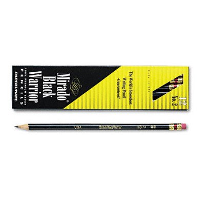 Paper Mate Mirado Black Warrior Woodcase Pencil Nontoxic , HB #2, Black Matte Barrel, Dozen, Sold as 2 Packs of 12, Total of 24 Each (PAP2254) ()