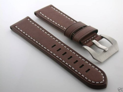 20 mm Buffalo Leather Watch Strap for Panerai D / Brown # 11ws  B0091YO1TC