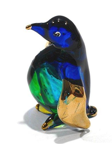 Penguin Glass Figurine (Handmade Penguin Art Glass Blown Sea Animal Figurine / Bird Figurine)