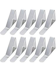 Korlon 30 Packs Tablecloth Clips Table Cover Clips Picnic Tablecloth Holders Clamps, Stainless Steel, Rust-Free