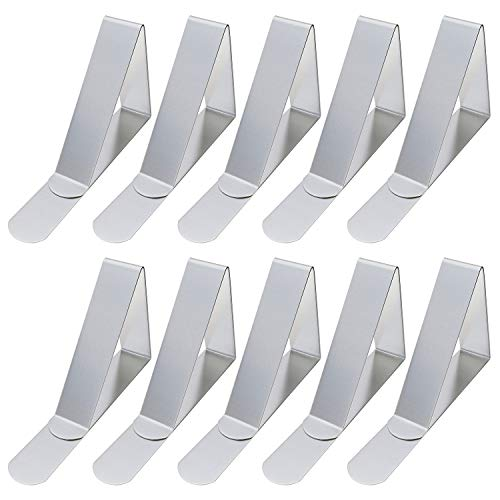 Price comparison product image Korlon 30 Packs Tablecloth Clips Table Cover Clips Picnic Tablecloth Holders Clamps,  Stainless Steel,  Rust-Free