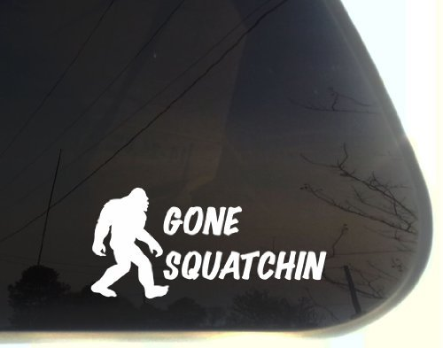 "Gone Squatchin - 7 1/2"" x 3 1/2"" funny die cut vinyl decal / sticker for window, truck, car, laptop, etc"