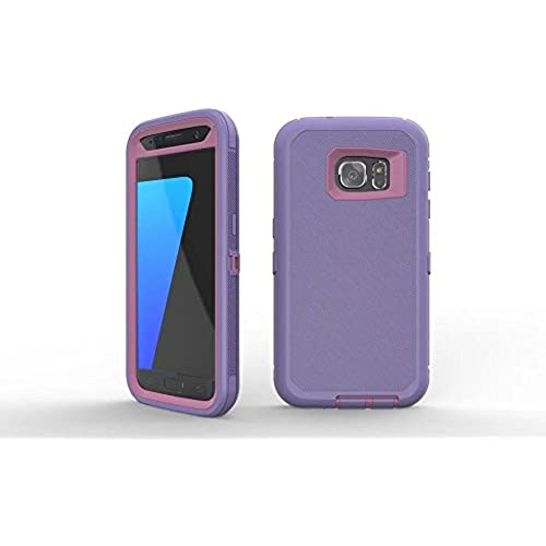 Galaxy S7 Edge Case HAIN@ Full Body Rugged Armor Protection Defender Case Cover for Samsung Galaxy S7 Edge (purple Sales