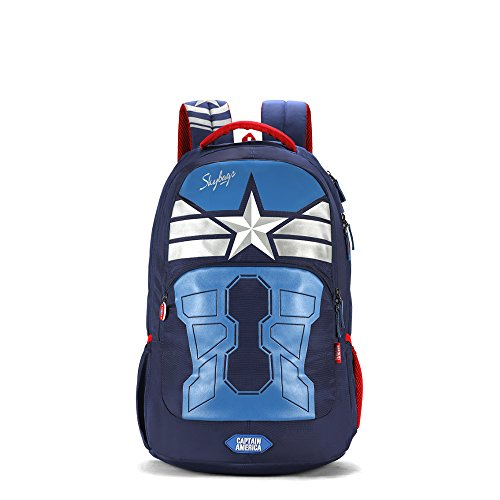 Skybags Sb Marvel 31.482 Ltrs Blue School Backpack (SBMAE02BLU)