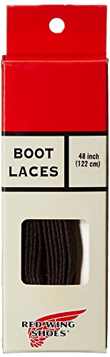 Red Wing Heritage Waxed Flat Shoe Lace,Brown,48 inch