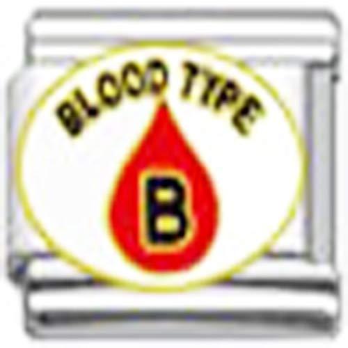 SEXY SPARKLES Blood Type B Medical Italian Charm for Bracelet