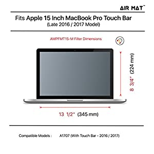 "15 Inch MacBook Pro Touch Bar Magnetic Privacy Screen Filter (Apple Model A1707), best removable Anti Glare Protector Film for data confidentiality - compare to 3M (MacPro 15"" 2016-2017)"