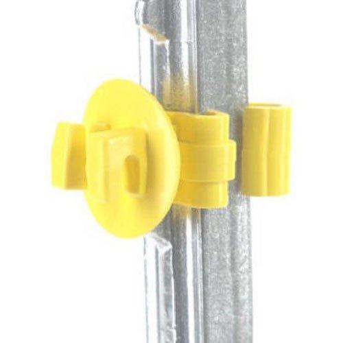 (Dare Products 184691 SNUG-STP-25 25CT T-Post Insulator, Yellow)