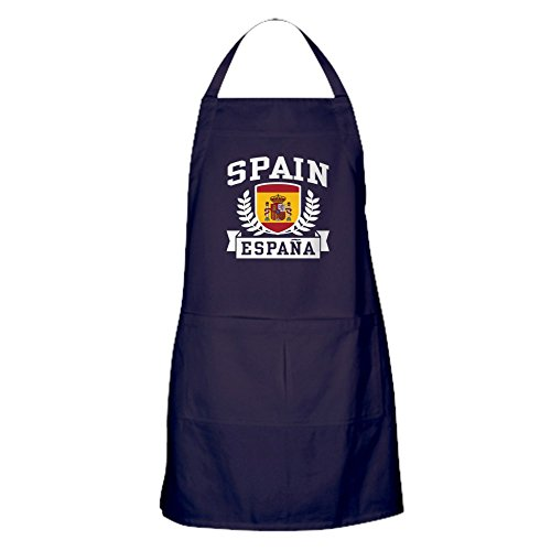CafePress - Spain Espana Apron (dark) - 100% Cotton Kitchen Apron with Pockets, Perfect Grilling Apron or Baking Apron by CafePress