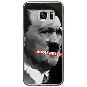 Loud Universe Samsung Galaxy S7 Adolf Hitler Printed Transparent Edge Case - Black/Grey