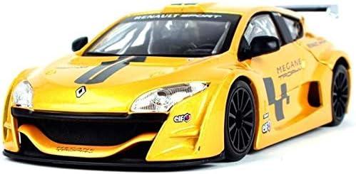 カーモデル、モデルカー1時24ルノー・メガーヌトロフィーシミュレーション合金の子供のおもちゃの車の少年スポーツカーメタルオー