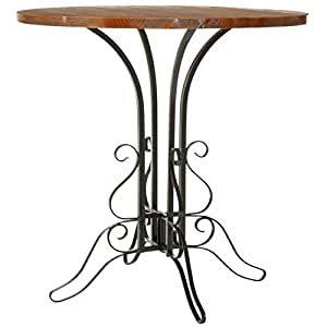 Safavieh American Homes Collection Avery Oak Finished Black Iron Side Table