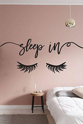 N.SunForest Wall Decal Beauty Salon Eyelashes Pattern Art Mu