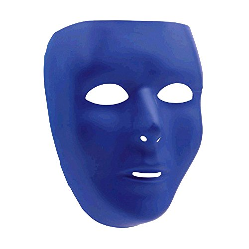 Party Perfect Team Spirit Full Face Plastic Mask Accessory, Blue, , 6