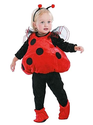 Totally Ghoul Infant Girls Plush Red & Black Ladybug Costume with Vest Headband