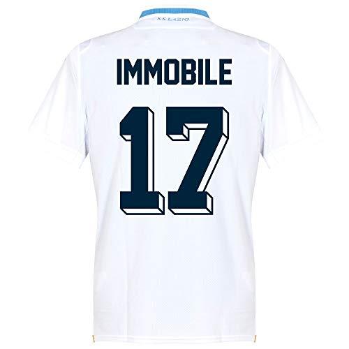 722e7e8c545 Macron Lazio Away Immobile 17 Jersey 2018 2019 (Fan Style Printing) - EU