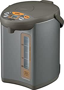 Zojirushi CD-WBC30-TS Micom 3-Liter Water Boiler and Warmer, Silver Brown