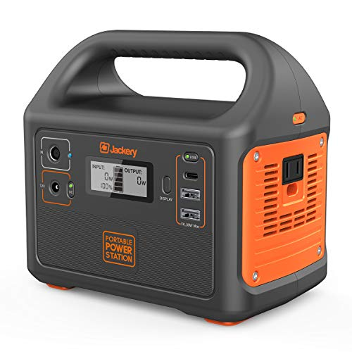 Jackery Portable Power Station Explorer 160, 167Wh Solar Generator Lithium Battery Backup Power Supply with 110V/100W(Peak 150W) AC Inverter Outlet for Outdoors Camping Fishing Emergency
