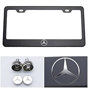 License plate holder for mercedes benz with for Mercedes benz license plate logo
