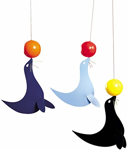 Flensted Mobiles The 3 Happy Sealions Hanging Nursery Mobile - 20 Inches Plastic
