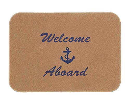 Cape Hatteras Welcome Aboard Boat Mat - - Mat Aboard Welcome