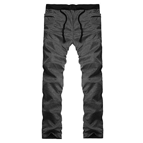 iYBUIA Autumn Winter Pure Color Mens Jogger Tracksuit Running Sport Pants Sweatpants Trousers Plus Size]()