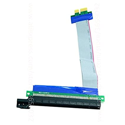 Cable Length: 0.2m Computer Cables 20CM PCI-E 1x to 16x Extension Cable PCI-Express pcie x1 to x16 Graphics Card Flex Extender Converter Riser Card Adapter 0.2m