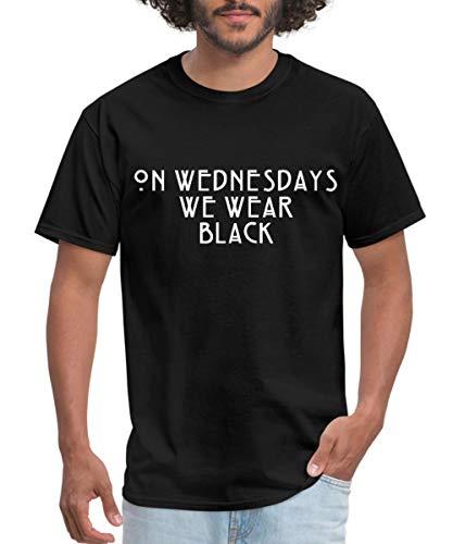 Fashiony - On Wednesdays We Wear Black Men's T-Shirt, XL, Black (On Wednesdays We Wear Black T Shirt)