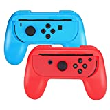 Nintendo Switch Joy-Con Grip, SabHill 2 Packs Wear-resistant Joy-Con Handle Controller Hand Grips for Nintendo Switch (Blue & Red)