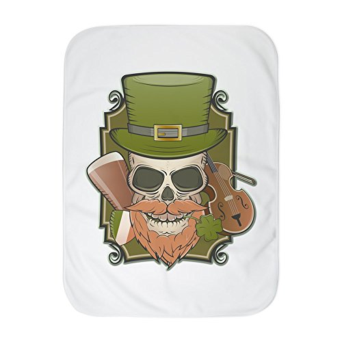 Truly Teague Baby Blanket White St Patricks Irish Skull by Truly Teague