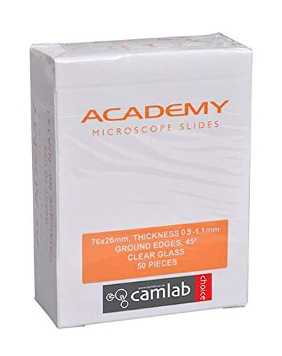 Camlab 1196611 Microscope Slide, Plain (Pack of 50) Camlab Limited