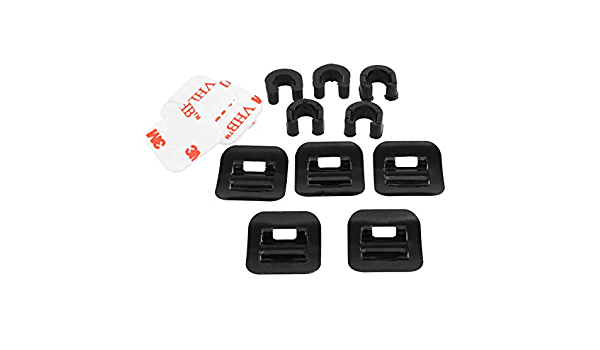 heyous 5 Set Bike Bicycle Conversion Tubing C Shape Oil Tube Fixed Clamp Aluminum Alloy Guide Cable Clip Brake Shift Cable Housing Frame Holder Organizer