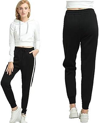 OJJFJ Leotardos Pantalones De Mujer Pantalón De Chándal De Rayas ...