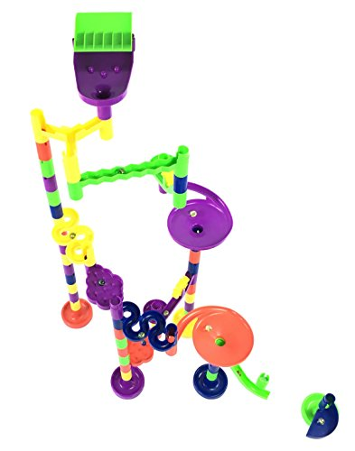 Mr. Marble Run Starter Set (48 Large Marble Run Pieces + 10 Glass Marbles) by Mr. Marble Run (Image #2)