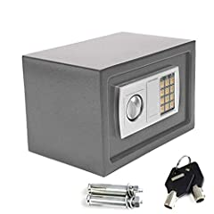 Size Name:8.5L(31x20x20cm)Grey              Color: Grey              Operation: Digital PIN or Override Key              Battery Required: 4 x AA-Size 1.5V (provide for oneself)              Time Out Period: After 3 attempts           ...