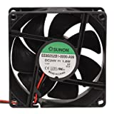 SUNON EE80252B1-0000-A99 DC Brushless Fan, 12'' Leads Connection, Ball Bearing, 24 VDC, 75mA, 80 mm L x 80 mm W x 25 mm H