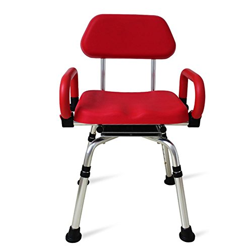 TSAR003 High-End Luxury 360 Degree Rotating Bathroom Chair With Backrest And Handrails, Comfortable Soft Seat, Adjustable Height, Waterproof Anti-Skid, 400 Pounds Load by TSAR003 (Image #1)